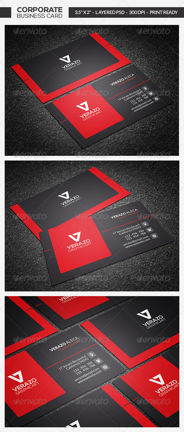 GraphicRiver Modern Corporate Business Card 7049856