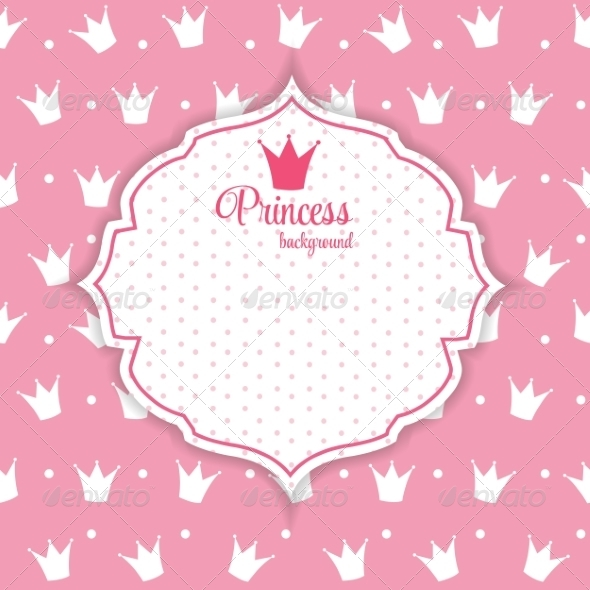 GraphicRiver Princess Crown Background 7049874