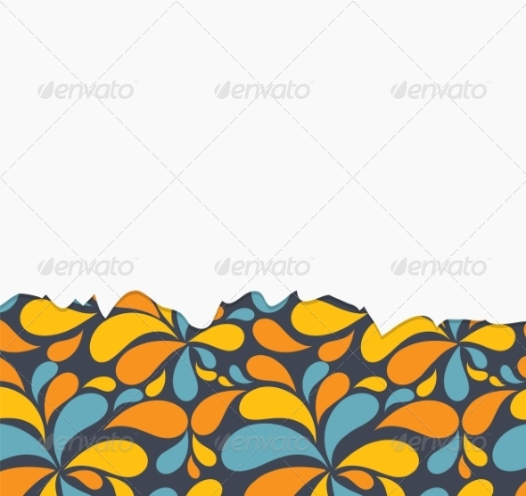 GraphicRiver Vector Floral Background with Flowers 7049932