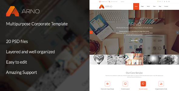 Arno - Multipurpose Corporate Template PSD