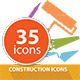 35 Construction Icons - GraphicRiver Item for Sale