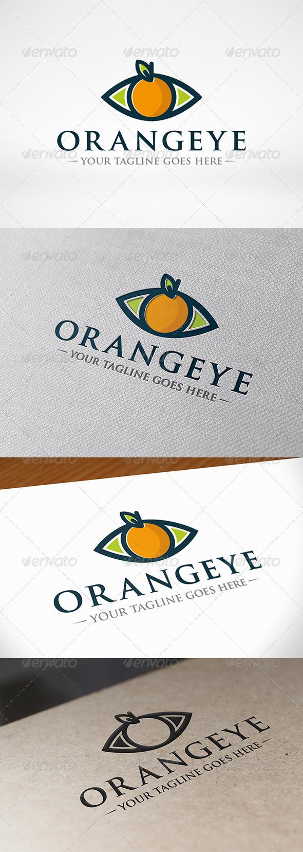 GraphicRiver Orange Eye Logo Template 7050162
