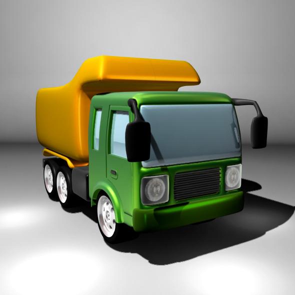 3DOcean Cartoon Dump or Sand Truck 7050200