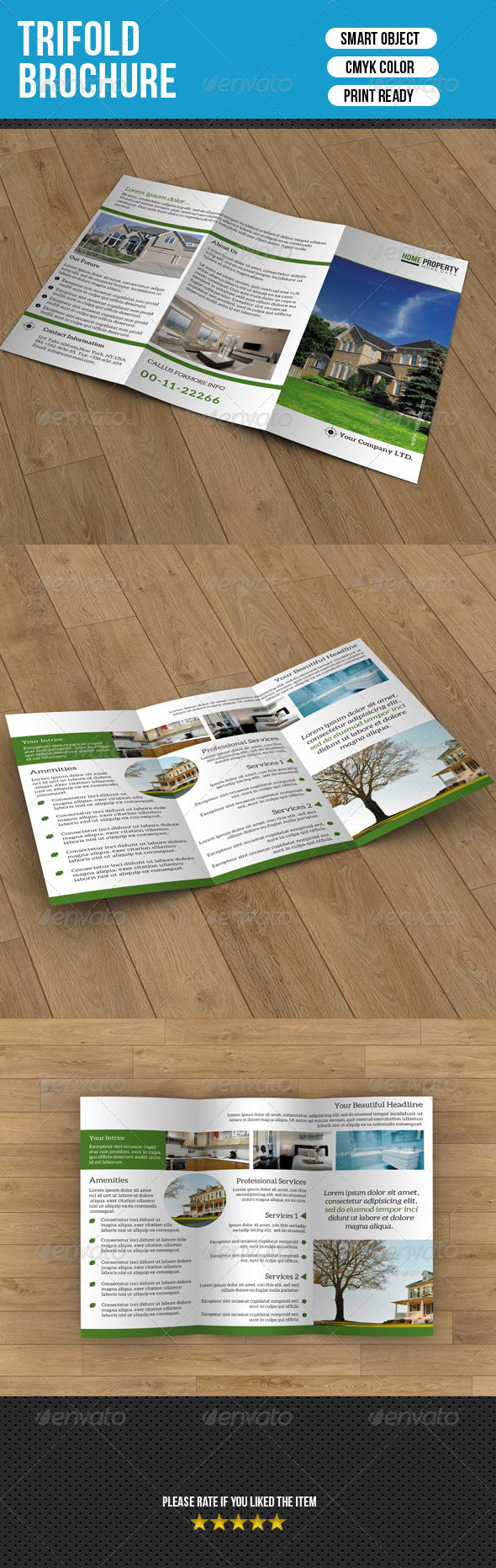 GraphicRiver Trifold Brochure- Real Estate 7050233