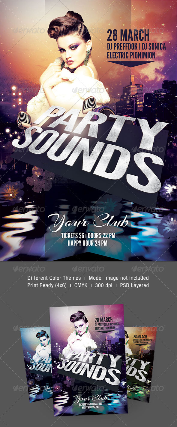 GraphicRiver Party Sounds Flyer 7050696