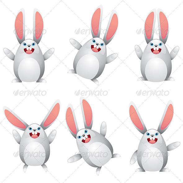 GraphicRiver White Egg Bunny 7050703