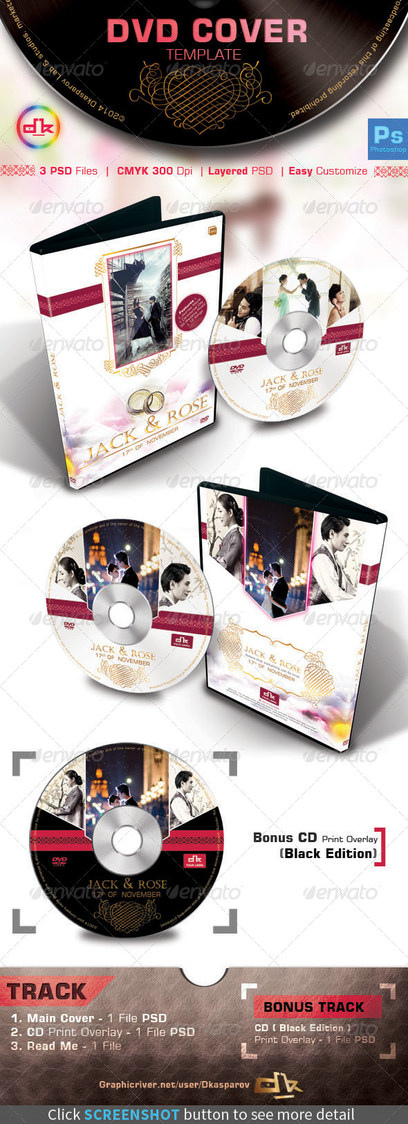 GraphicRiver Wedding DVD Cover 7034429