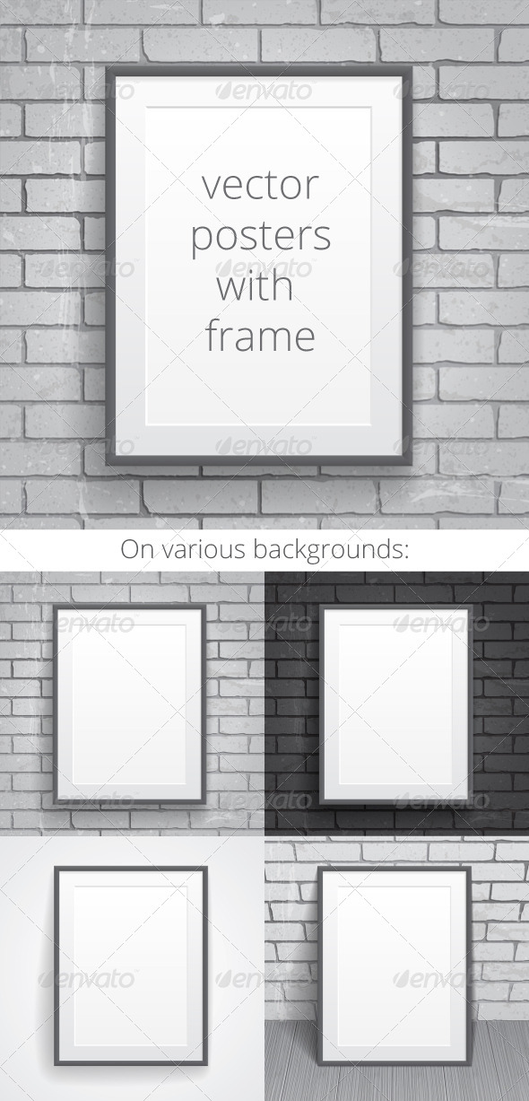 GraphicRiver Blank Paper Posters with Frame 7051353