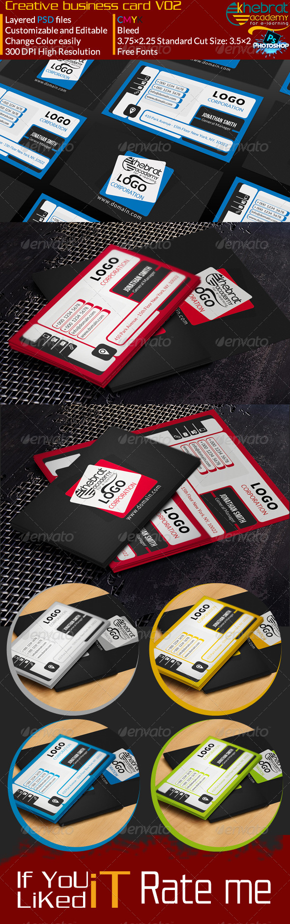 GraphicRiver Creative Business Card V02 7051481