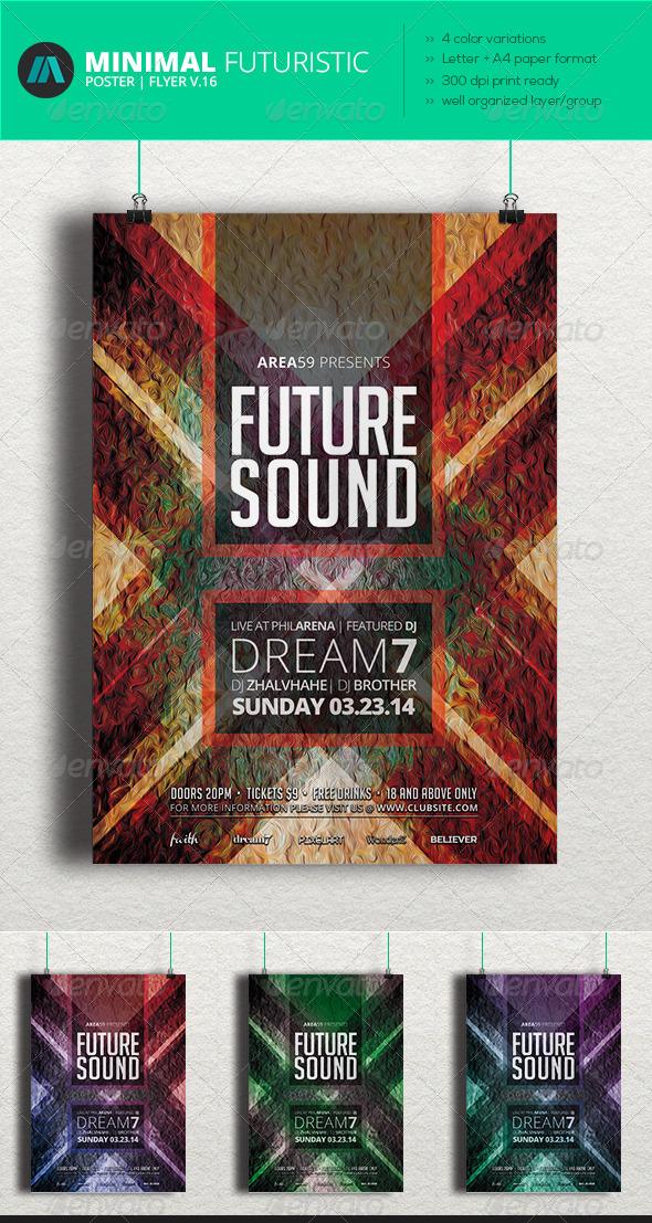 GraphicRiver Minimal Futuristic Poster Flyer V.16 7051629