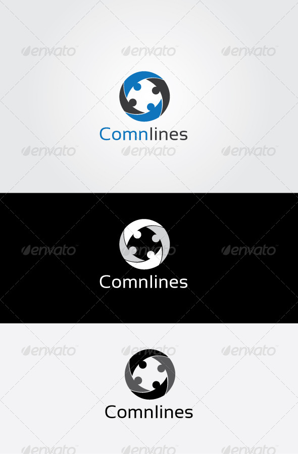 GraphicRiver Community People Logo 7051641