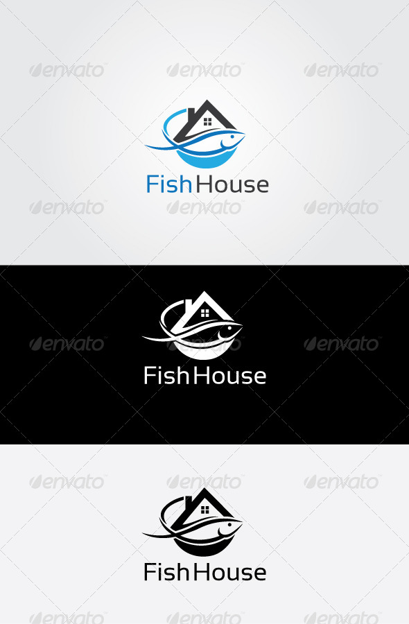 GraphicRiver Fish House Logo 7051669