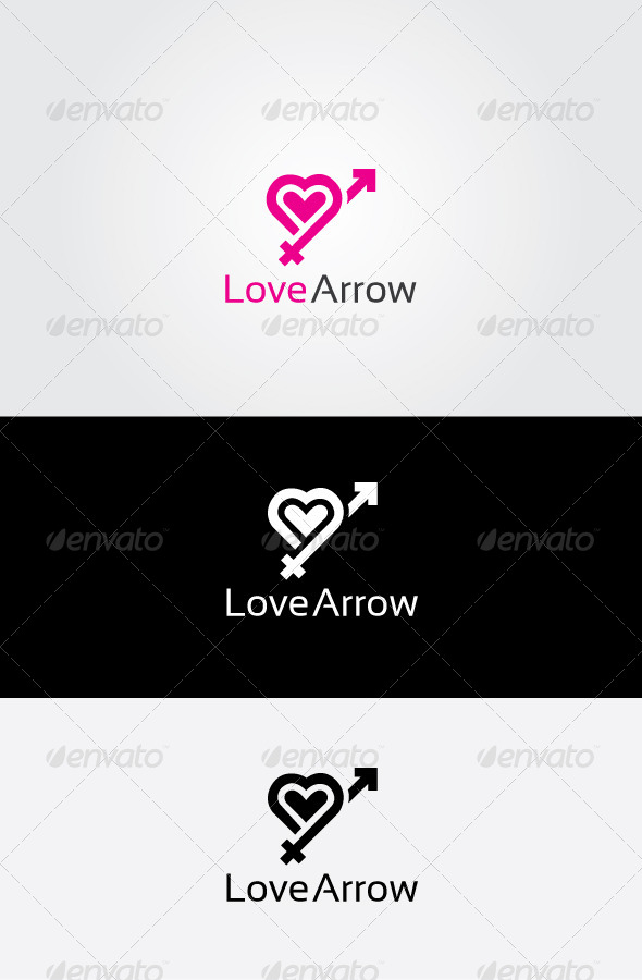 GraphicRiver Love Arrow Logo 7051681