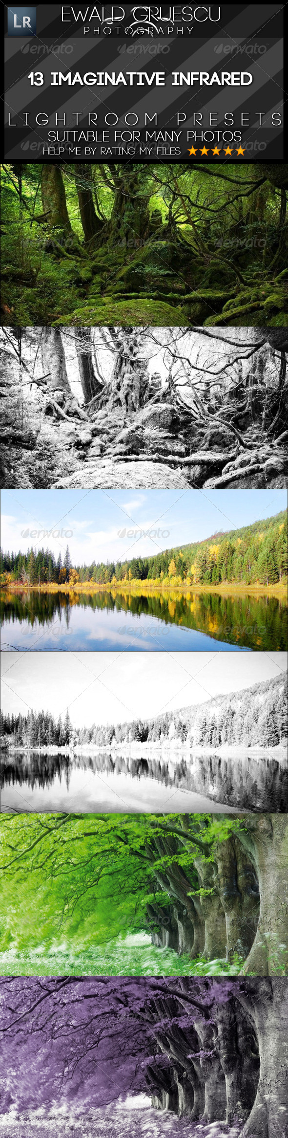 GraphicRiver 13 Infrared Lightroom Presets 7033973