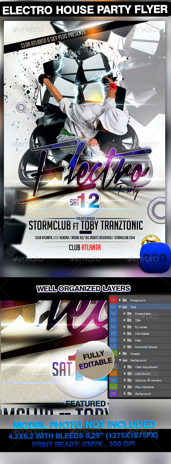 GraphicRiver Electro House Party Flyer 7034928