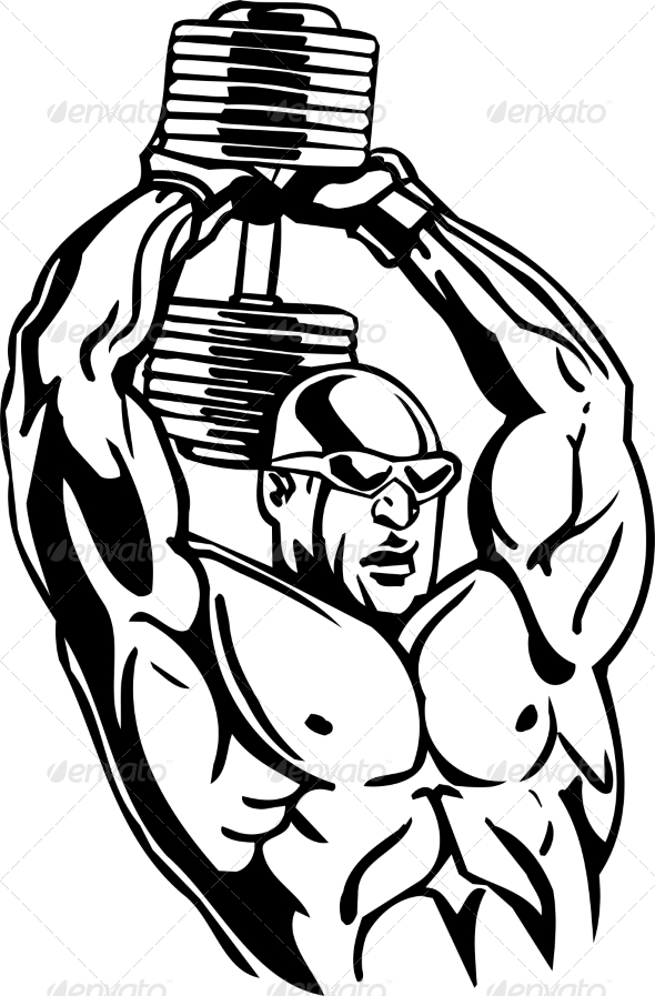 GraphicRiver Bodybuilding and Powerlifting 7052787