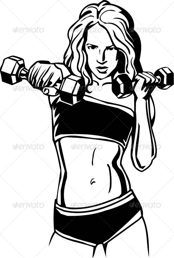 GraphicRiver Women s Fitness 7052832