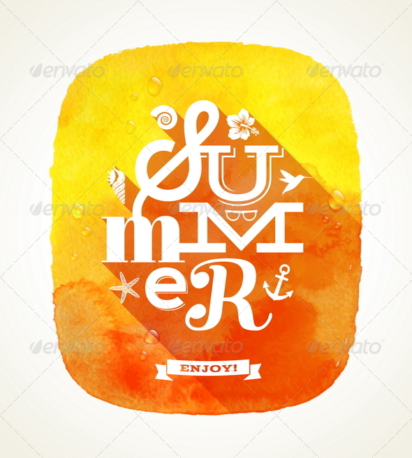 GraphicRiver Summer Greeting with Summer Things 7052835