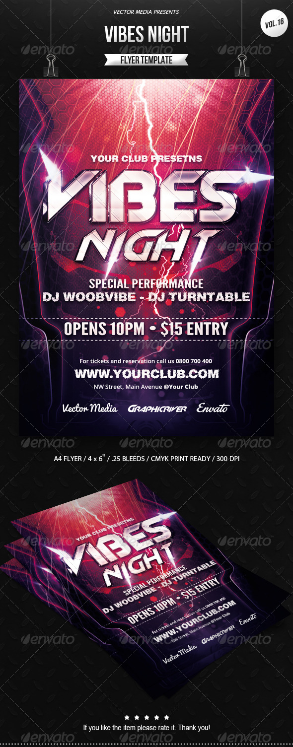 GraphicRiver Vibes Night Flyer [Vol.16] 7052837