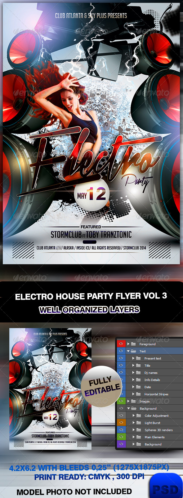 GraphicRiver Electro House Party Flyer Vol 3 7052904
