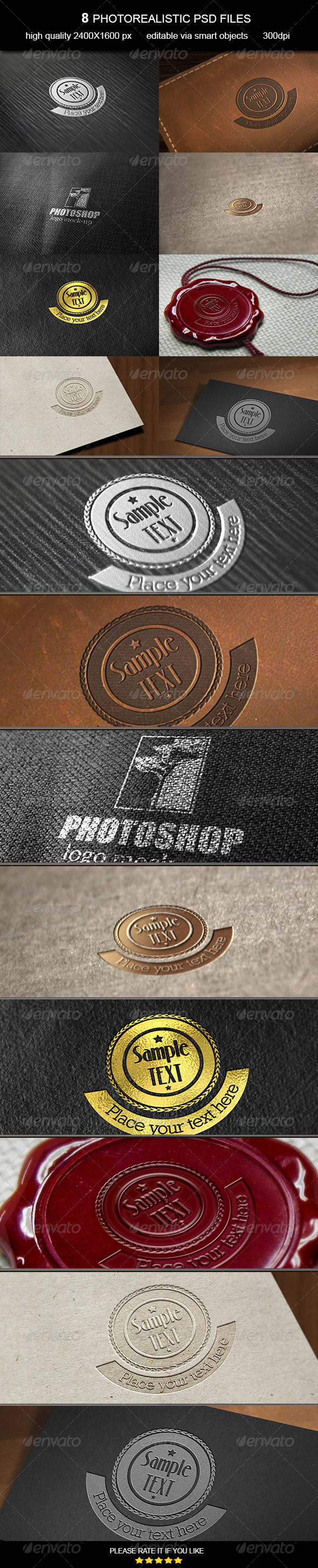 GraphicRiver Logo Mock-Up Vol 7 7036091