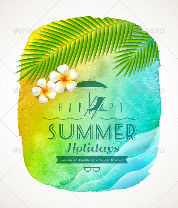 GraphicRiver Summer Holiday Greeting 7053307
