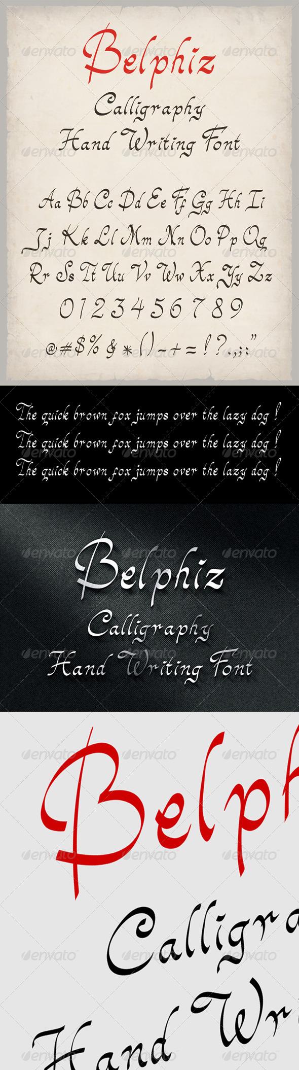 GraphicRiver Belphiz Font 7053490