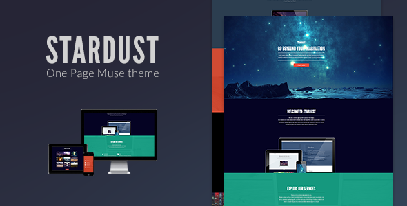 Stardust - One Page Muse Theme - Creative Muse Templates