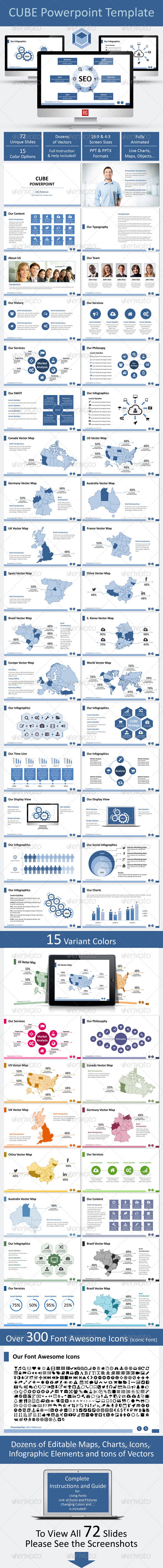 GraphicRiver Cube Powerpoint Template 7019350