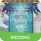 Beach Style Wedding Invitation Post Card - GraphicRiver Item for Sale
