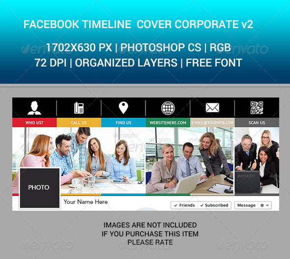 GraphicRiver Facebook Timeline Cover Corporate v2 7053797