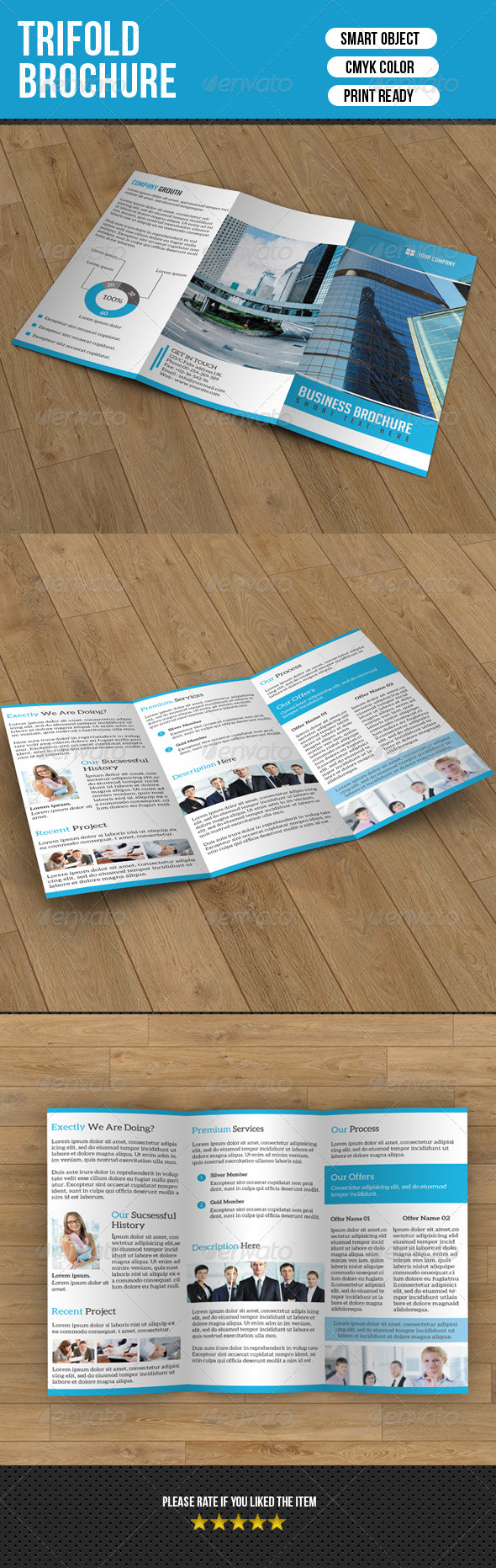 GraphicRiver Trifold Brochure for Business 7053926