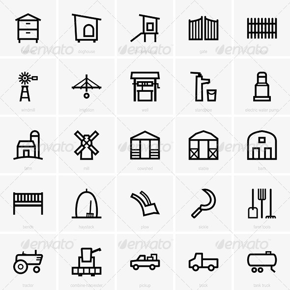 GraphicRiver Farm Icons 7054178
