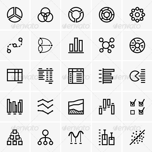 GraphicRiver Business Graph Icons 7054191