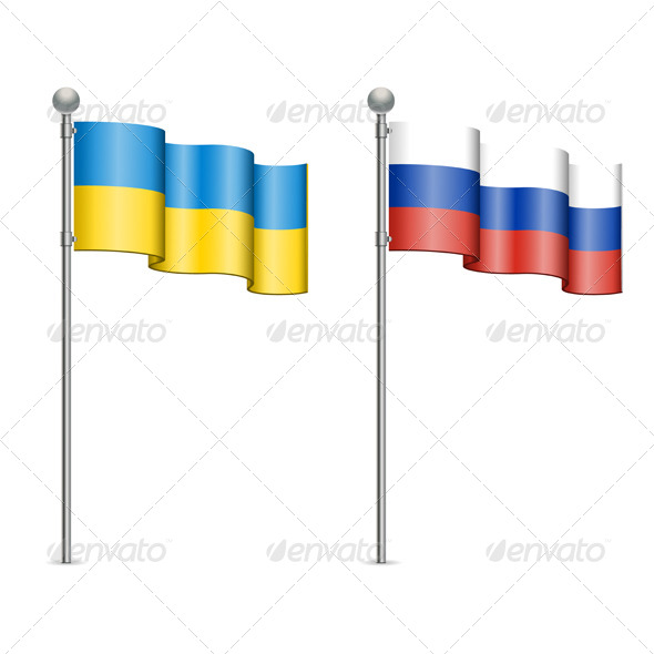 GraphicRiver Flags of Ukraine and Russia 7054210