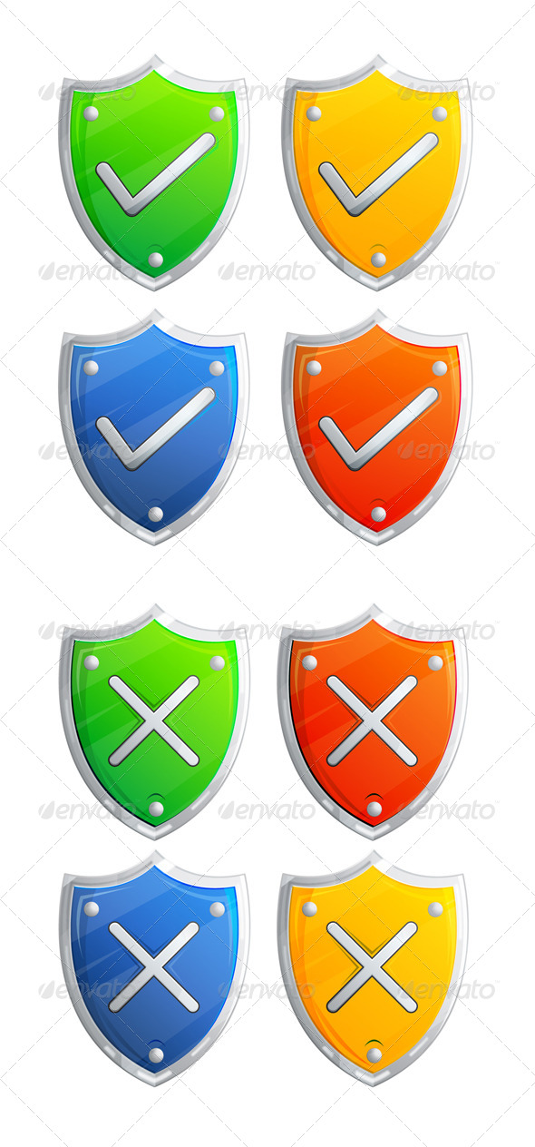 GraphicRiver Shield Icon Illustration 7054600