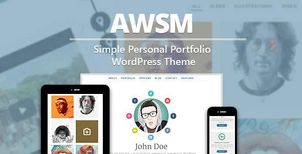 AWSM - Simple Personal Portfolio WordPress Theme - Portfolio Creative