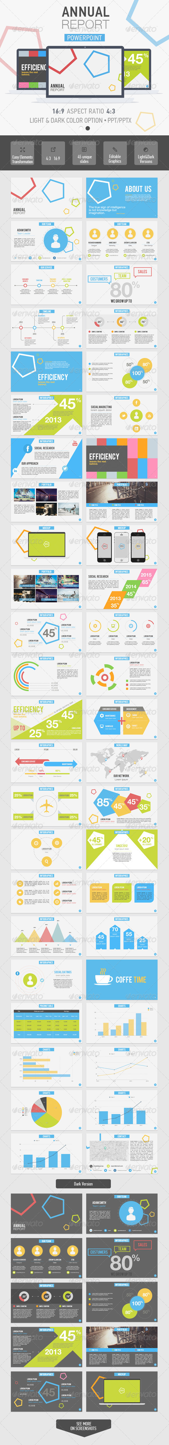 GraphicRiver Annual Report Powerpoint Template 7054721
