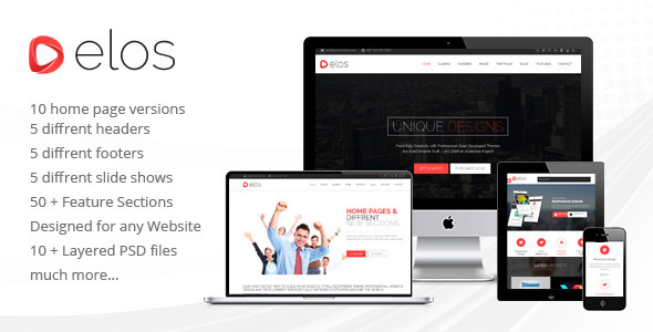 ThemeForest elos Responsive MultiPurpose HTML5 Template 7022548