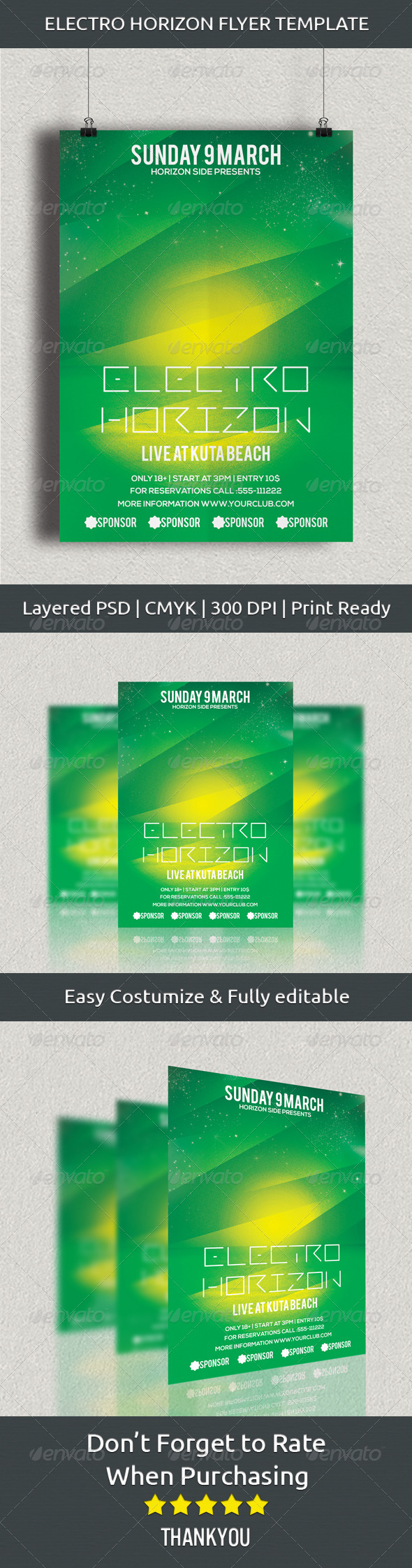 GraphicRiver Electro Horizon Flyer Template 7034914