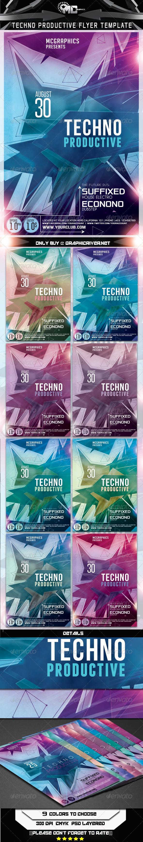 GraphicRiver Techno Productive Flyer Template 6984692