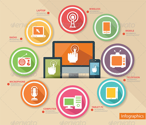 GraphicRiver Technology Concept Infographics 7012862