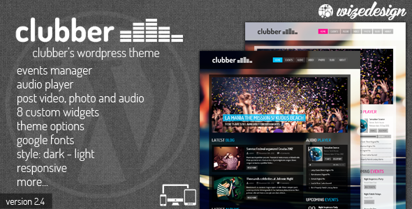 Clubber - Events & Music WordPress Theme - Music and Bands Entertainment
