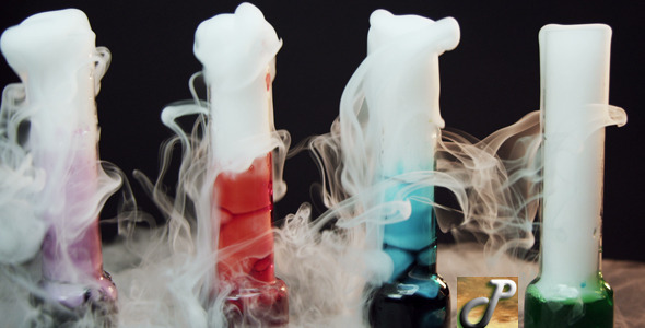 Glass With The Effect Of Dry Ice