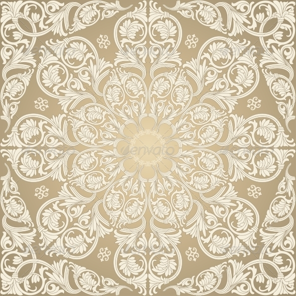 GraphicRiver Damask Seamless with Baroque Ornaments 7055598