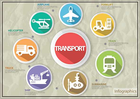 GraphicRiver Transport Infographics 6896541