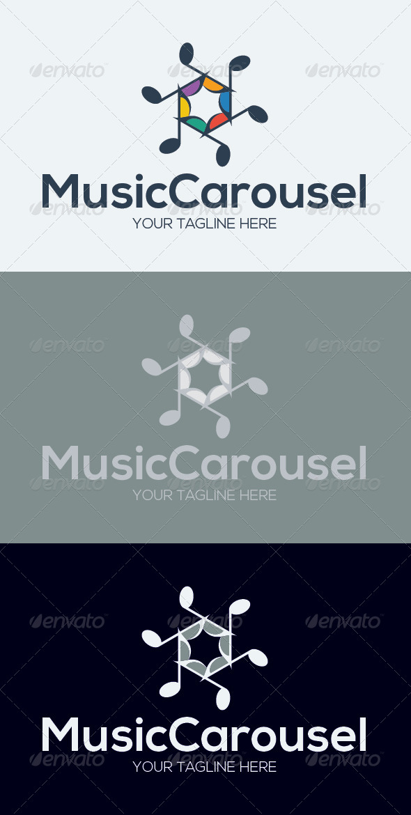 GraphicRiver Music Carousel Logo Template 7055671