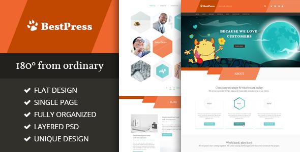 ThemeForest BestPress Creative Landing Page 7021556