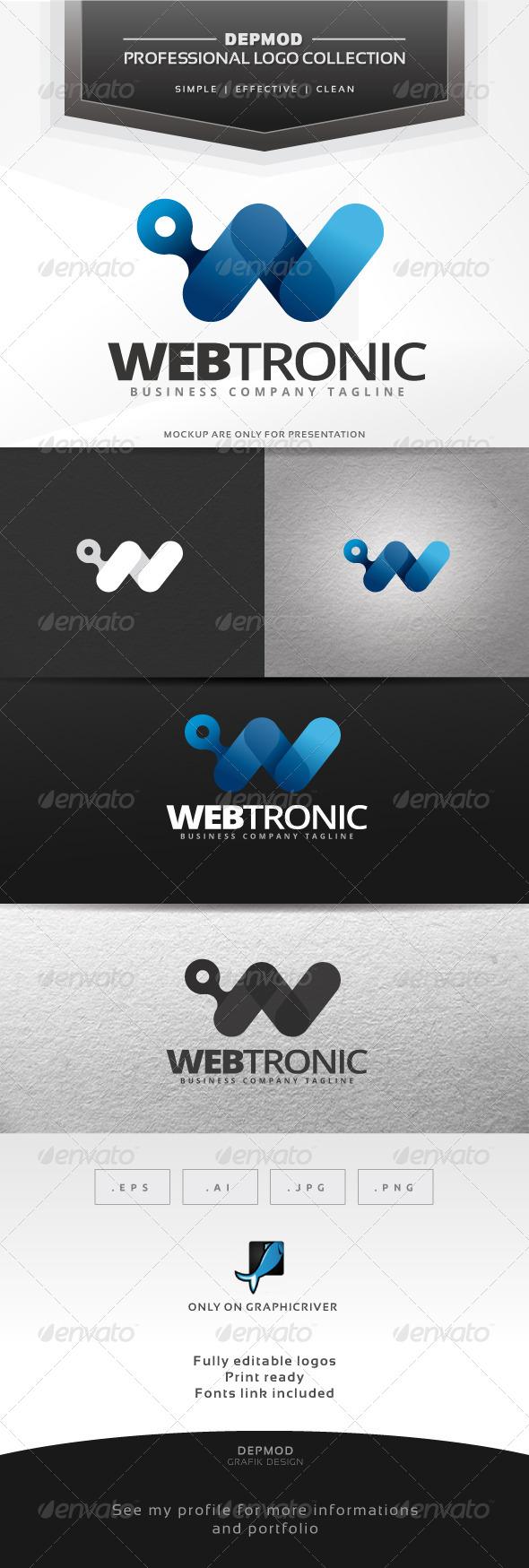GraphicRiver Webtronic Logo 7055686