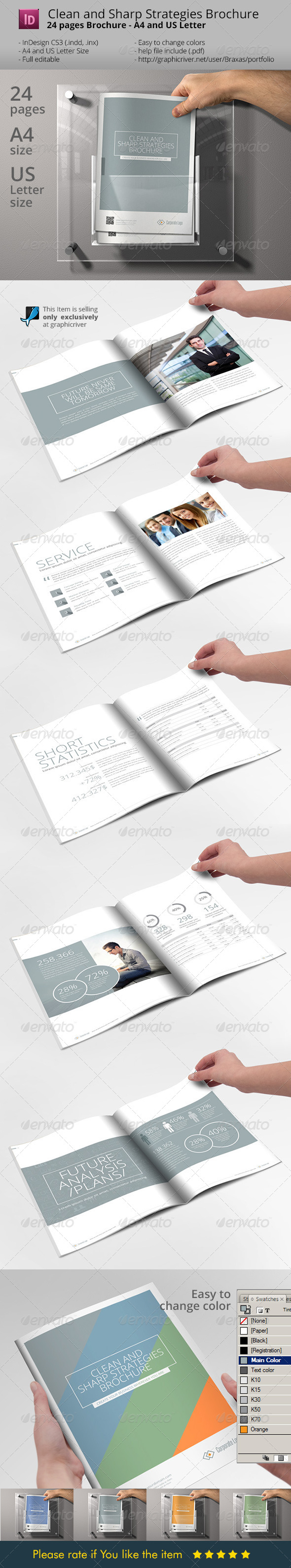 GraphicRiver Clean And Sharp Indesign Brochure Template 7055734
